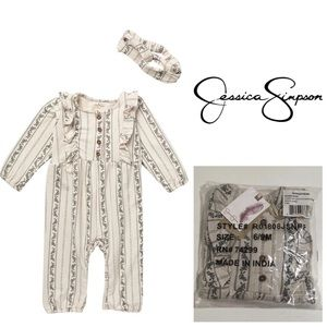 🆕JESSICA SIMPSON BABY - FLORAL JUMPSUIT 6-9M -NWT